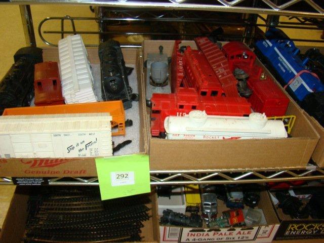 FRISCO BOX CAR-ROCKET FUEL CAR AND MORE TRAINS
