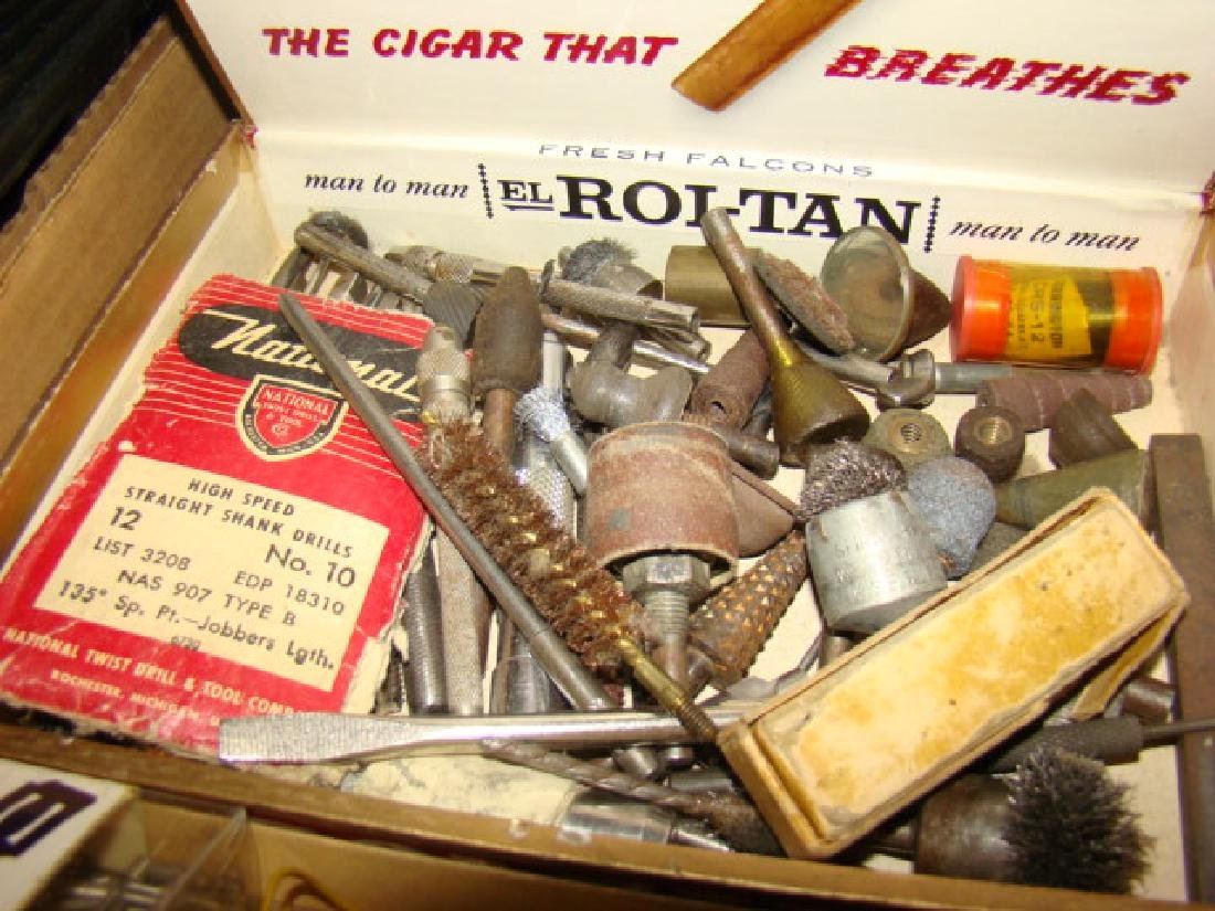 LARGE TRAIN PARTS LOT-IN CIGAR BOXES AND MORE - 3