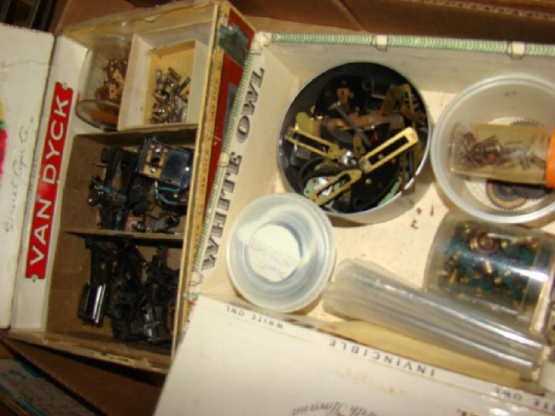 LARGE TRAIN PARTS LOT-IN CIGAR BOXES AND MORE - 5