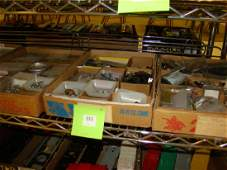 LARGE TRAIN HARDWARE LOT-ELECTRICAL AND MORE