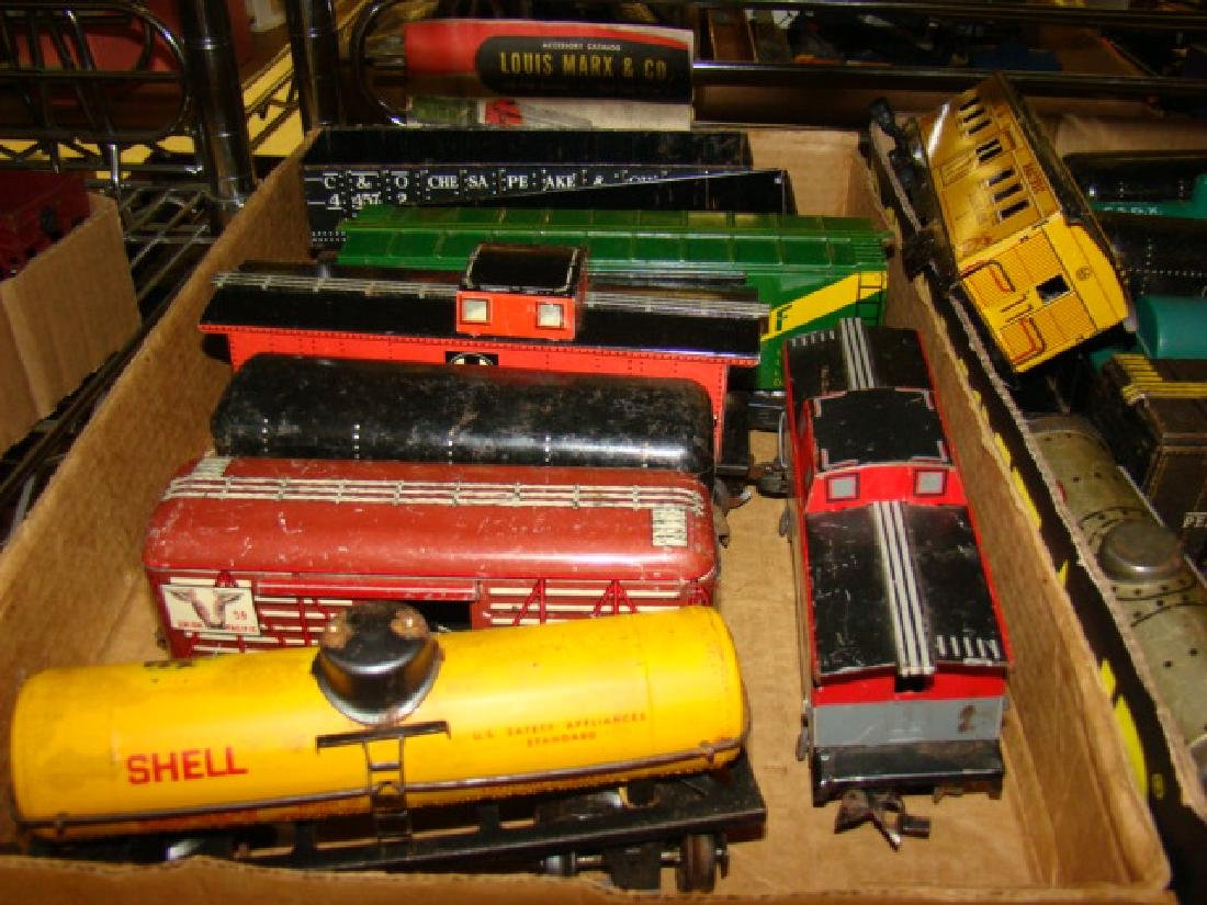 LARGE TIN LITHO TRAIN LOT-IVES AND MORE - 2