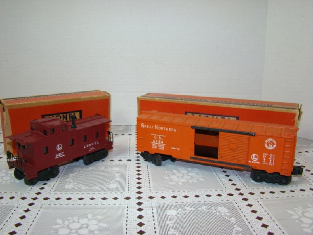 LIONEL CABOOSE & BOXCAR IN ORIGINAL BOXES