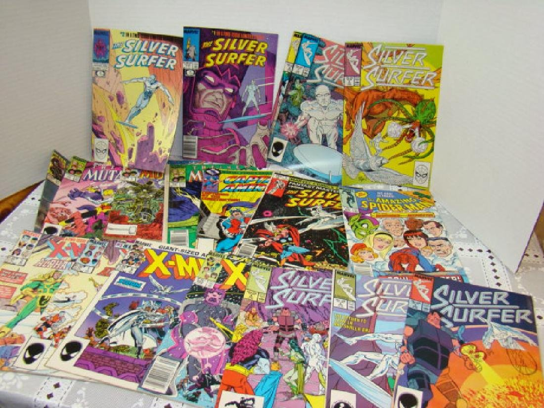 VARIOUS COMIC BOOKS-AMAZING SPIDERMAN-XMEN-SILVER