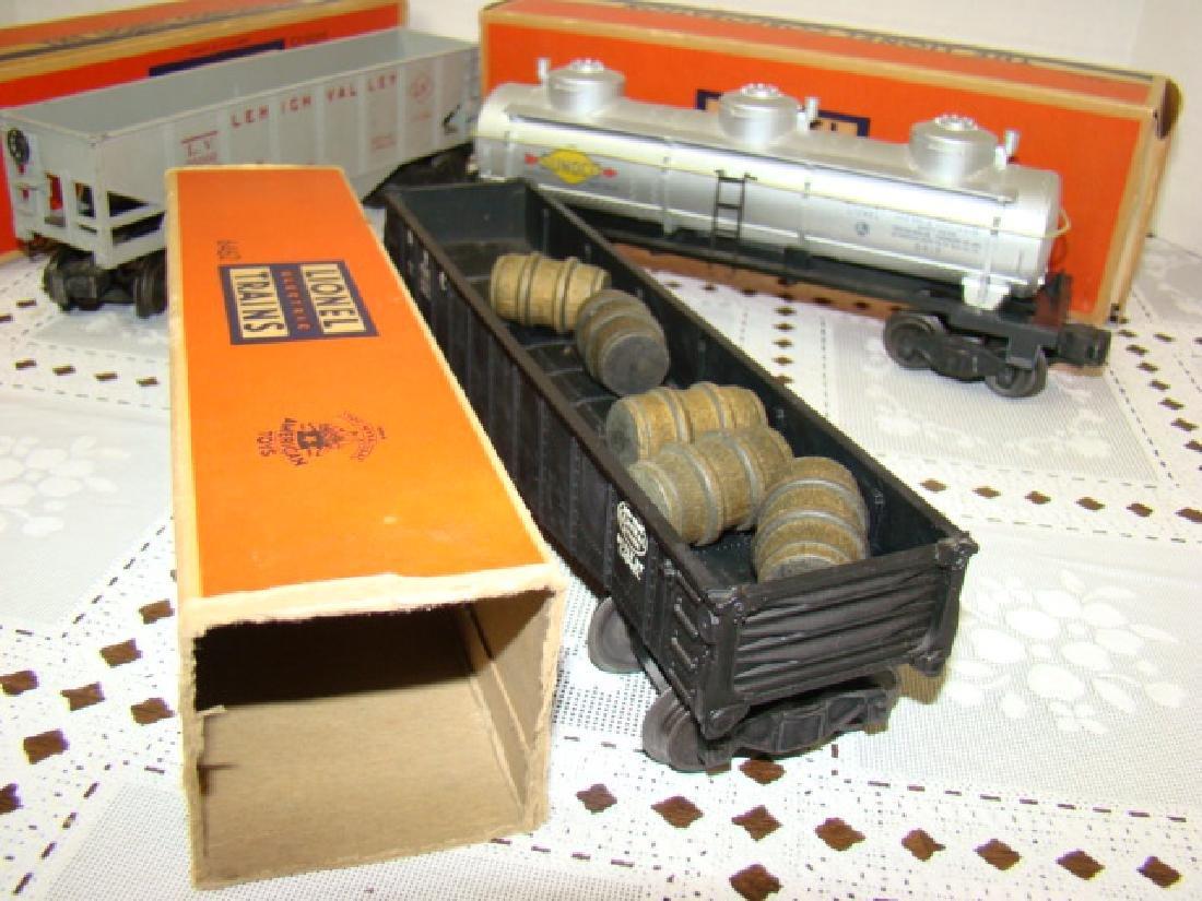 LIONEL HOPPER-GONDOLA-TANKER CARS IN ORIGINAL BOXE - 2