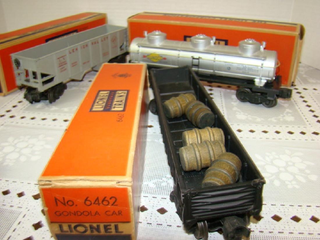LIONEL HOPPER-GONDOLA-TANKER CARS IN ORIGINAL BOXE - 3