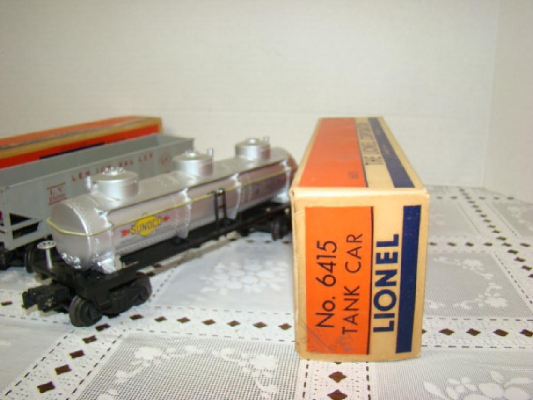 LIONEL HOPPER-GONDOLA-TANKER CARS IN ORIGINAL BOXE - 4
