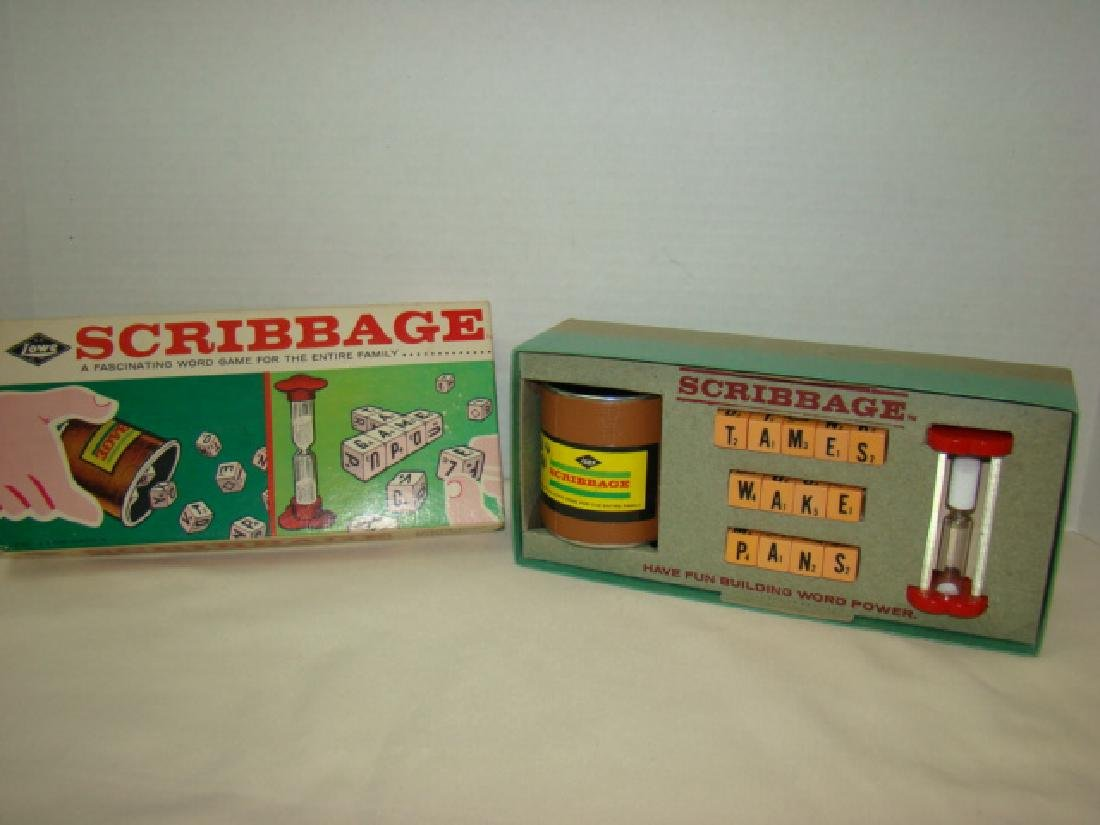 VINTAGE SCRIBBAGE DICE GAME BY E.S. LOWE CO.; INC.