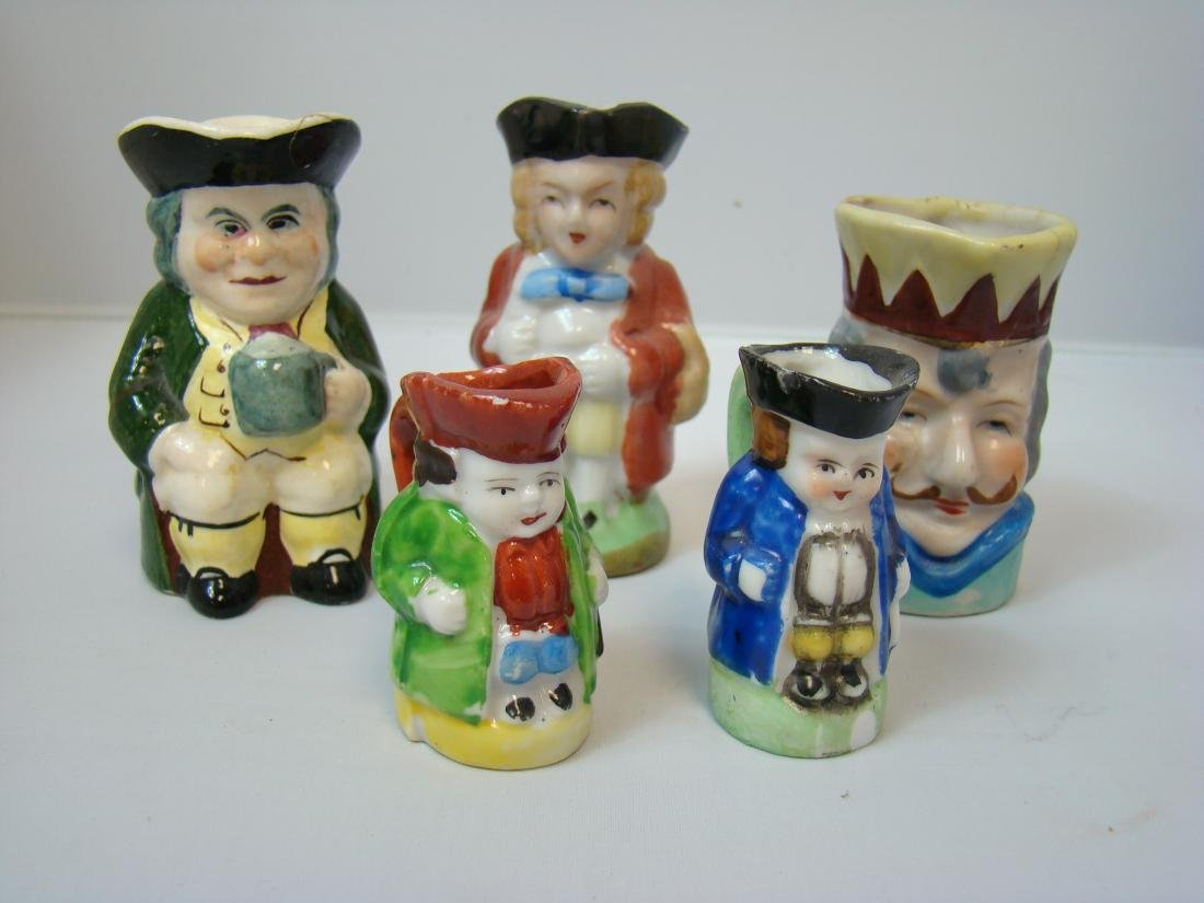 VINTAGE SMALL FIGURAL MEN CREAMERS