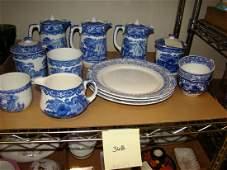 BLUE & WHITE JONES & SONS TEA SERVING DISHES