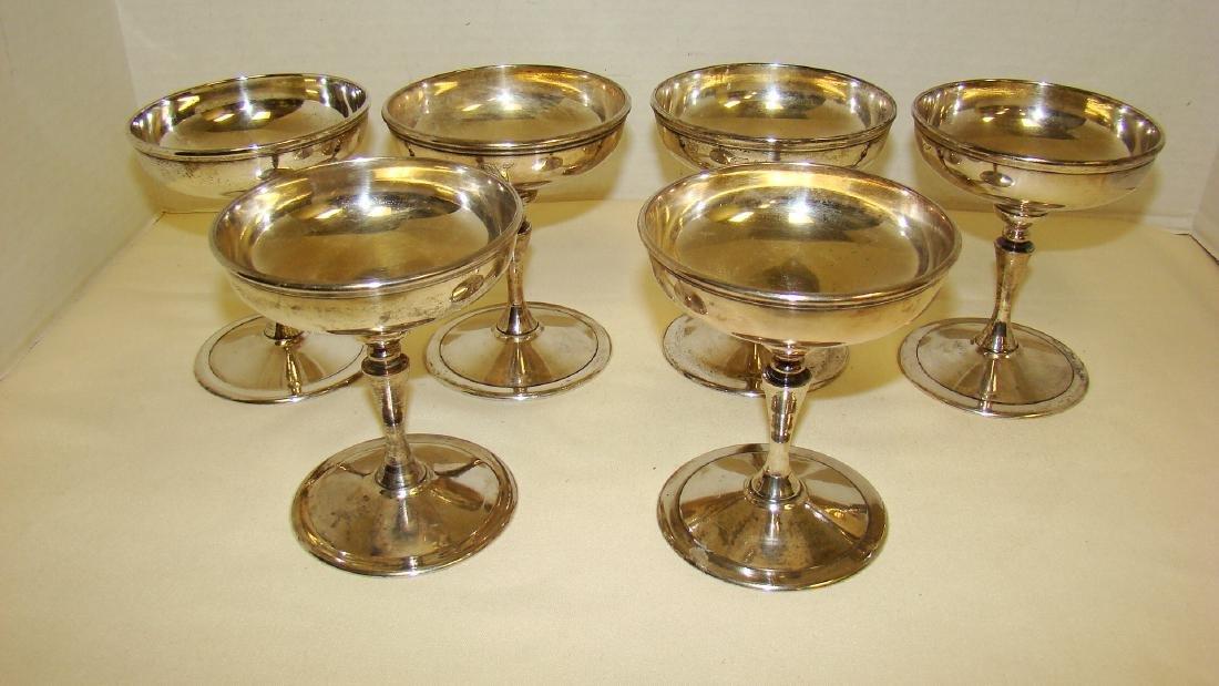 VINTAGE SILVER CHAMPAGNE GLASSES