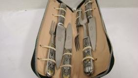 VINTAGE ARGENTINIAN STEAK KNIFE AND FORK SERVING S