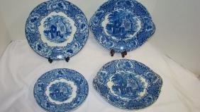 GEORGE JONES & SONS FLOW BLUE PLATES