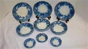 WOOD & SON FLOW BLUE MISCELLANEOUS DISHES
