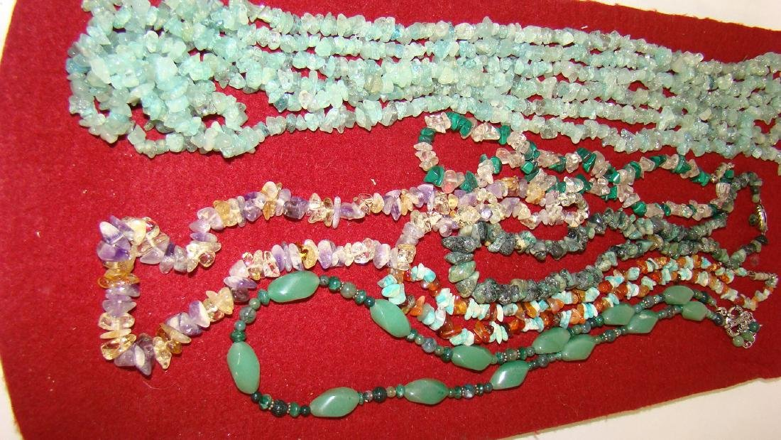 JADE TYPE STONE NECKLACES AND MORE