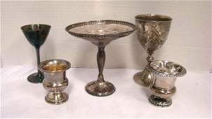 5 VINTAGE PIECES OF SILVER 3-STERLING SILVER