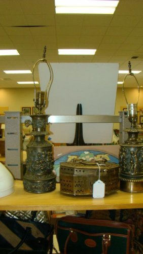 VINTAGE METAL TABLE LAMPS AND MORE