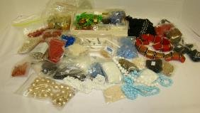 BAKELITE-BEADS - STONES - FAUX PEARLS - AND OTHER