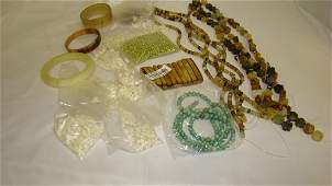 MIXED COLLECTION OF SEA SHELL BEADS  POLISHED STO