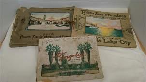 3 ANTIQUE TRAVEL PICTURE BOOKS