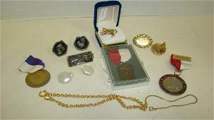 VINTAGE DOG KENNEL CLUB MEDALS CUFF LINKS AND MORE