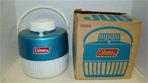 VINTAGE COLEMAN TEAL COLORED ONE GALLON JUG