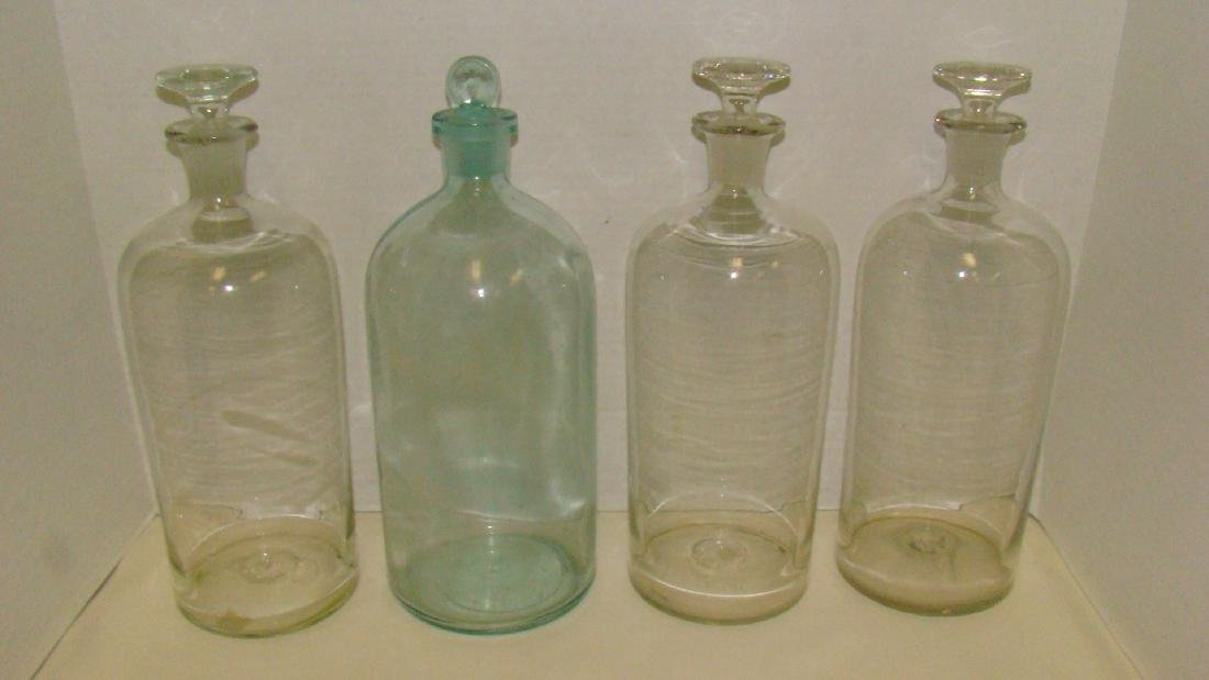 4 LARGE ANTIQUE APOTHECARY BOTTLES