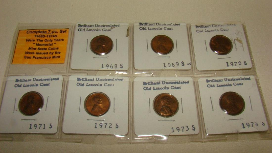 1968S-1974S LINCOLN PENNY SET