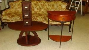VINTAGE STYLE HALF CIRCLE SIDE TABLE  COFFEE TABL