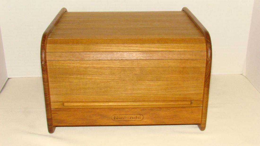 & ORIGINAL NINTENDO WOODEN STORAGE BOX