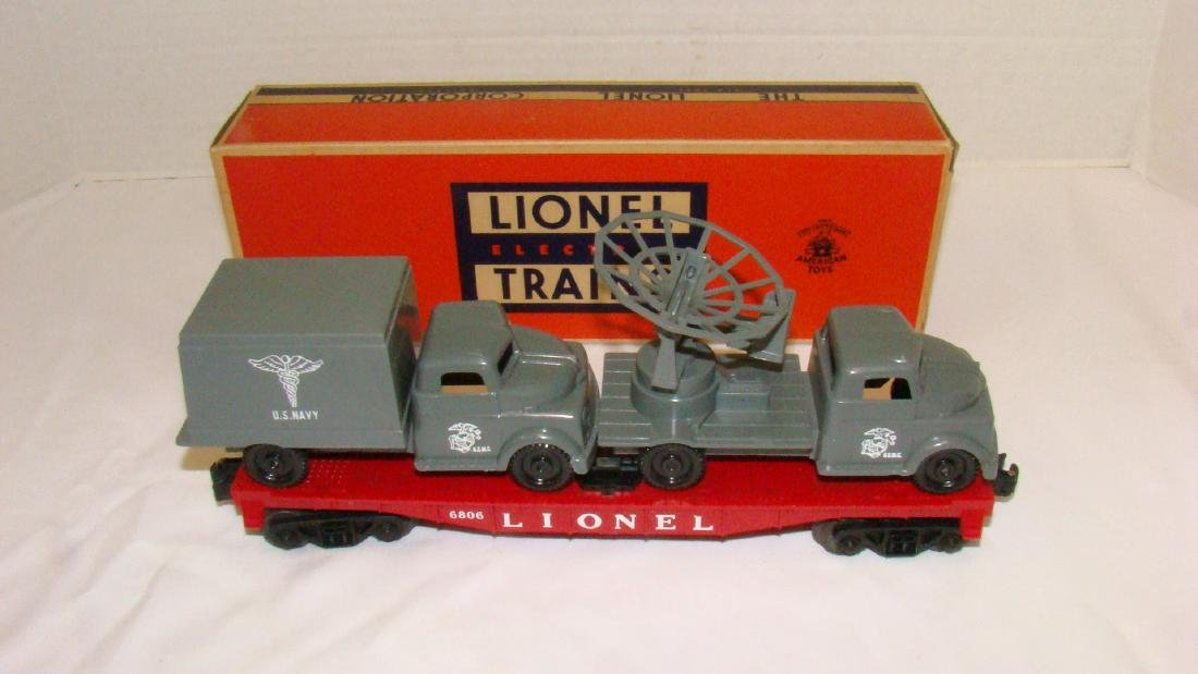 LIONEL 6806  FLAT CAR WITH MILITARY UNITS US NAVY