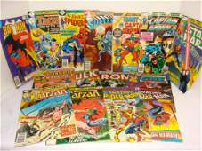 COMIC BOOK LOTEARLY 80S LATE 70SMARVEL AND DC