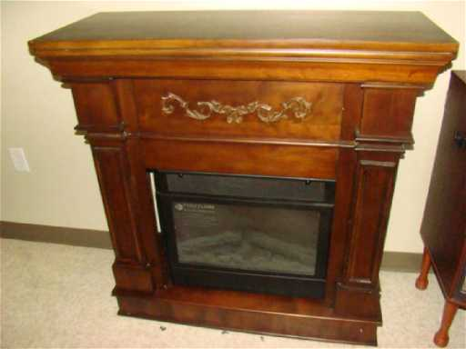 Lot: FEBO FLAME ELECTRIC FIREPLACE