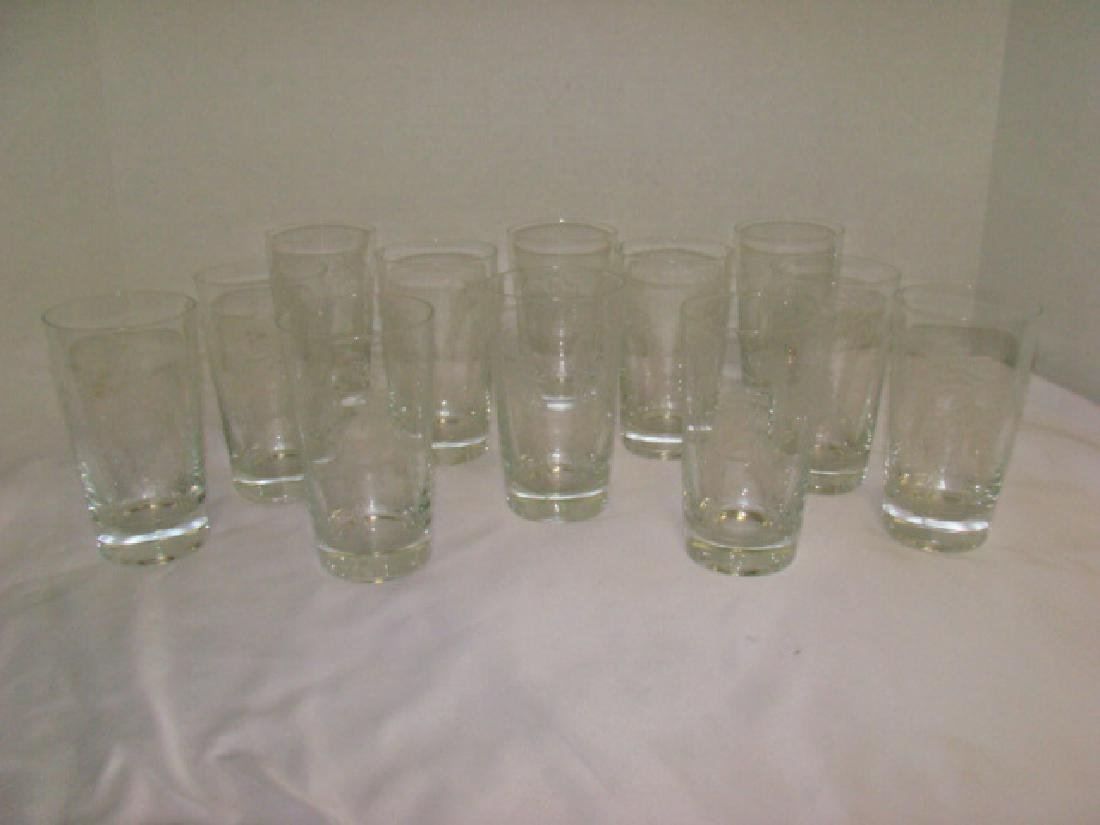 SET OF 12 CRYSTAL TUMBLER DRINKING GLASSES