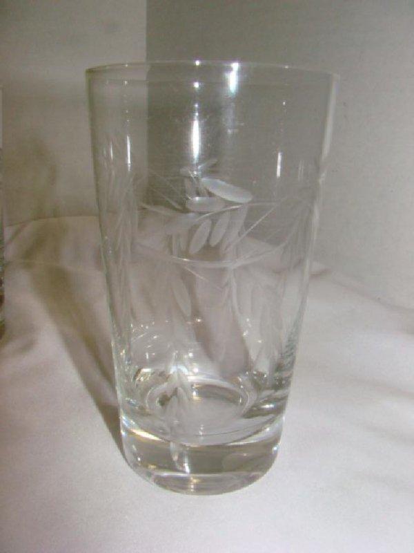SET OF 12 CRYSTAL TUMBLER DRINKING GLASSES - 2