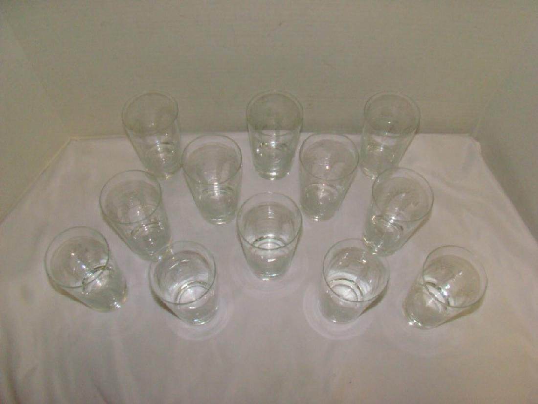 SET OF 12 CRYSTAL TUMBLER DRINKING GLASSES - 3