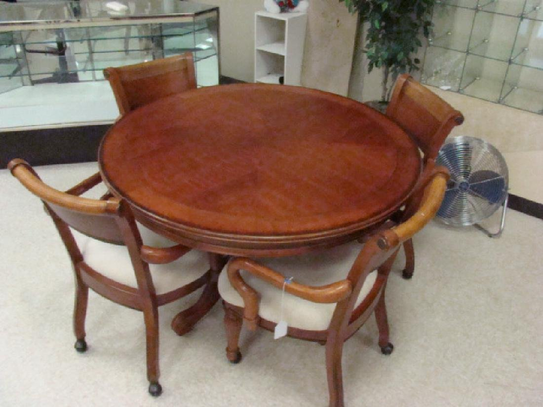 BEAUTIFUL DESIGNER OAK TABLE & 4 CHAIRS