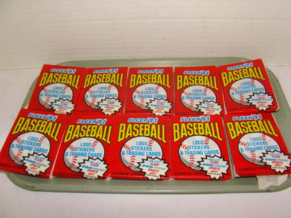 10 FLEER 1991 WAX PACKS - PRO VISIONS EDITION