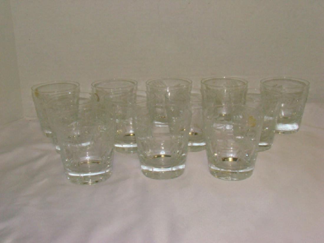 SET OF 12 CRYSTAL JUICE GLASSES