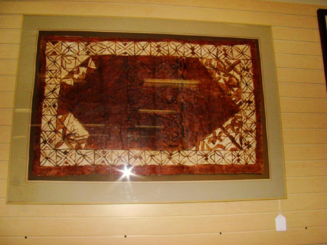 FRAMED BATIK TAPESTRY ART