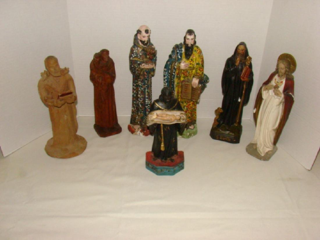 VARIOUS RELIGIOUS FIGURINES