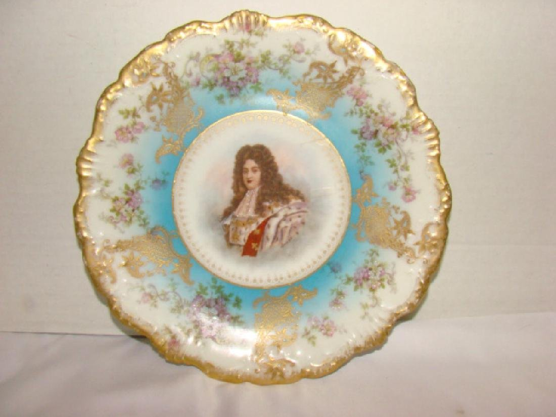FLORAL PAINTED CHINA PLATE WARE AND VASE - 2