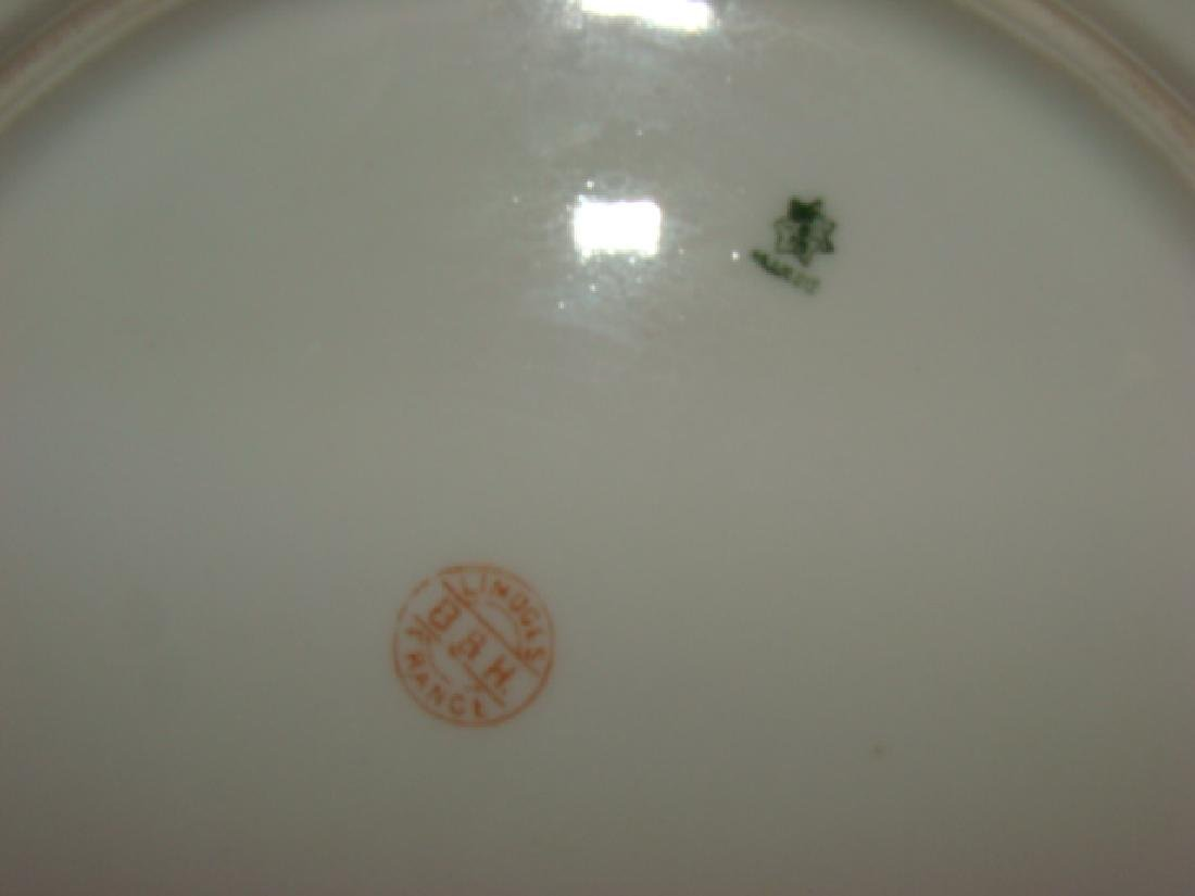 FLORAL PAINTED CHINA PLATE WARE AND VASE - 4