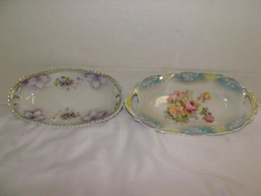 FLORAL PAINTED CHINA PLATE WARE AND VASE - 5
