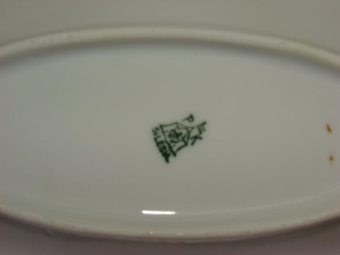 FLORAL PAINTED CHINA PLATE WARE AND VASE - 7