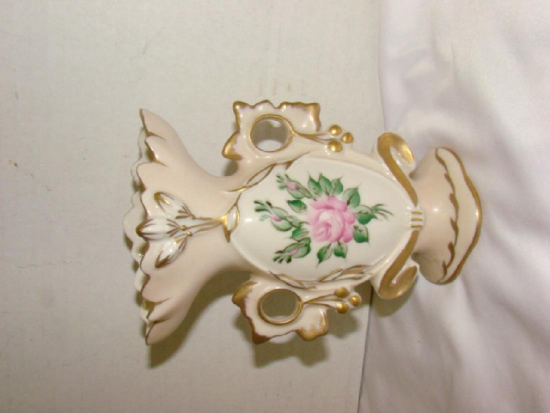 FLORAL PAINTED CHINA PLATE WARE AND VASE - 8