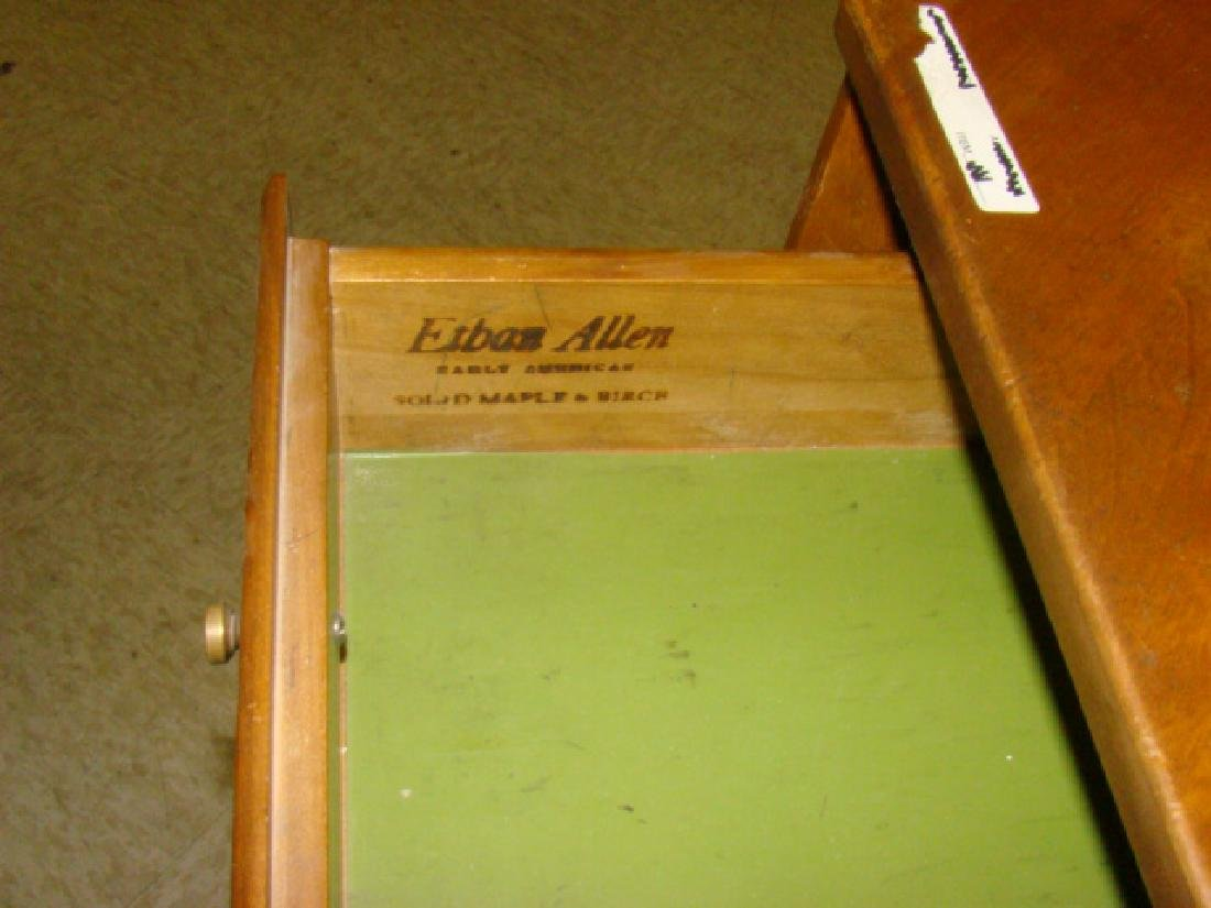 ETHAN ALLEN MAPLE & BIRCH SINGLE DRAWER CORNER TAB - 2