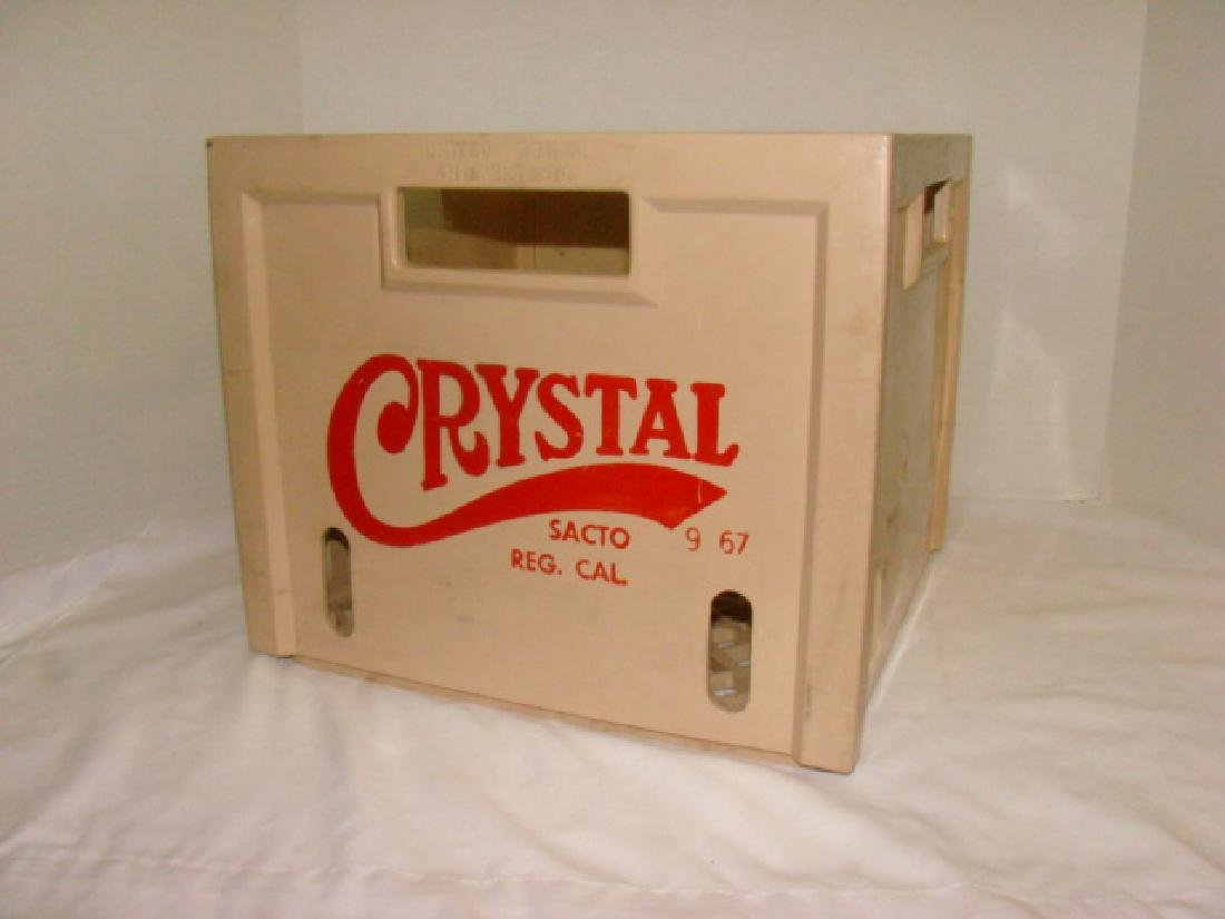 VINTAGE CRYSTAL MILK CRATE