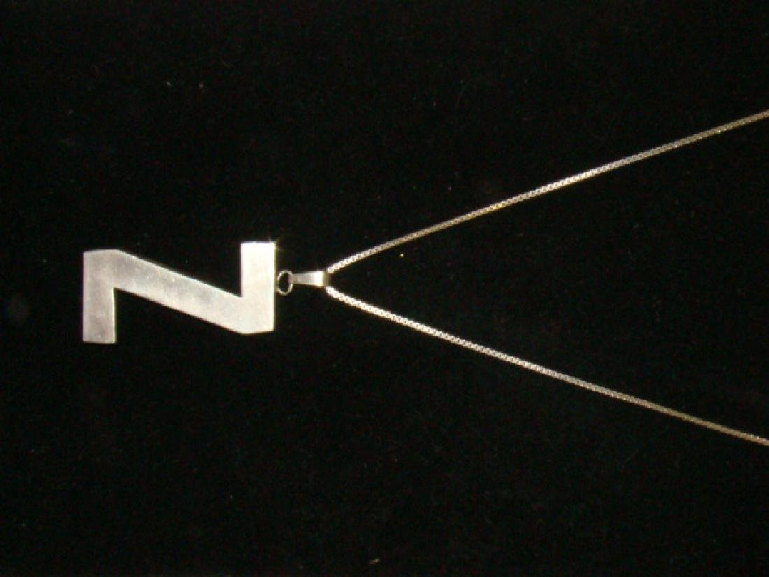 STERLING NECKLACE WITH Z PENDANT