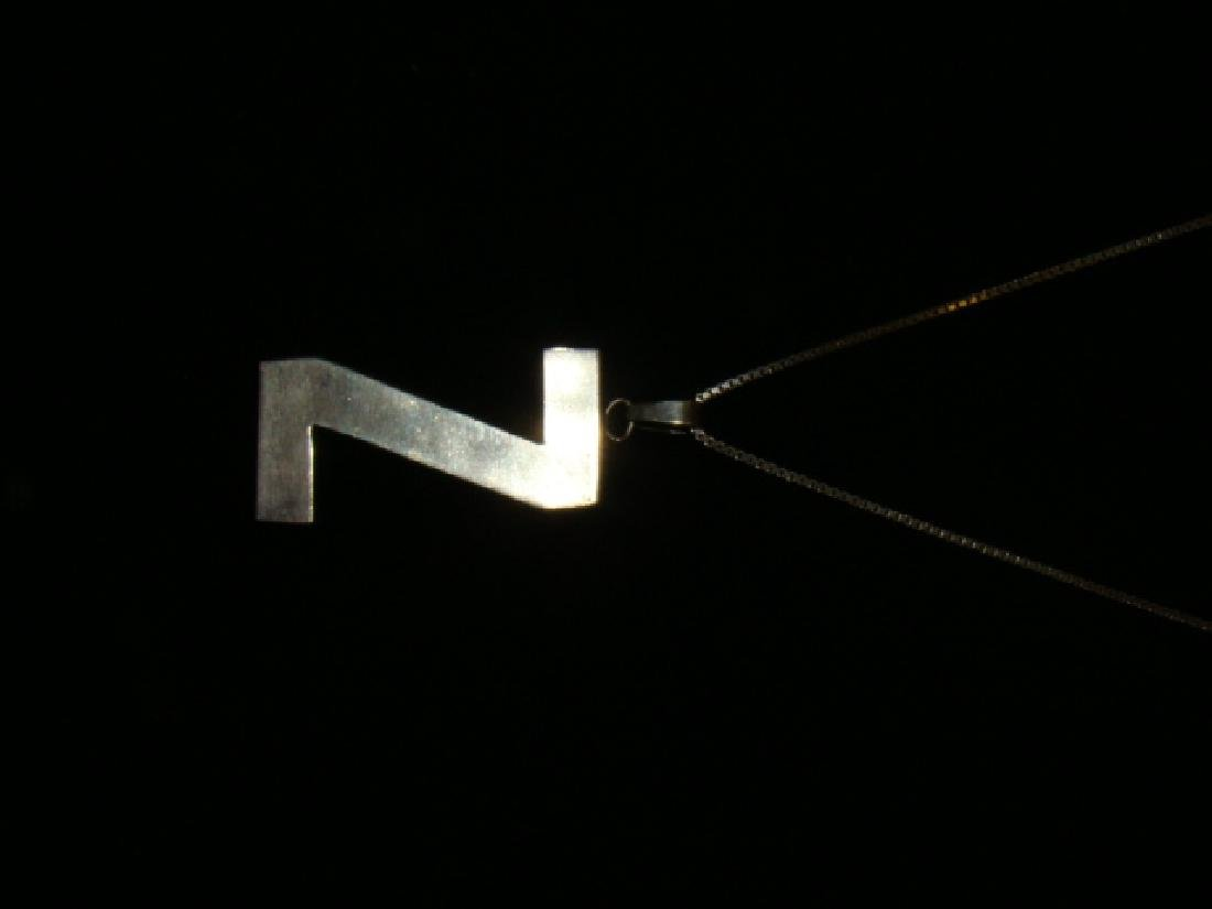 STERLING NECKLACE WITH Z PENDANT - 2