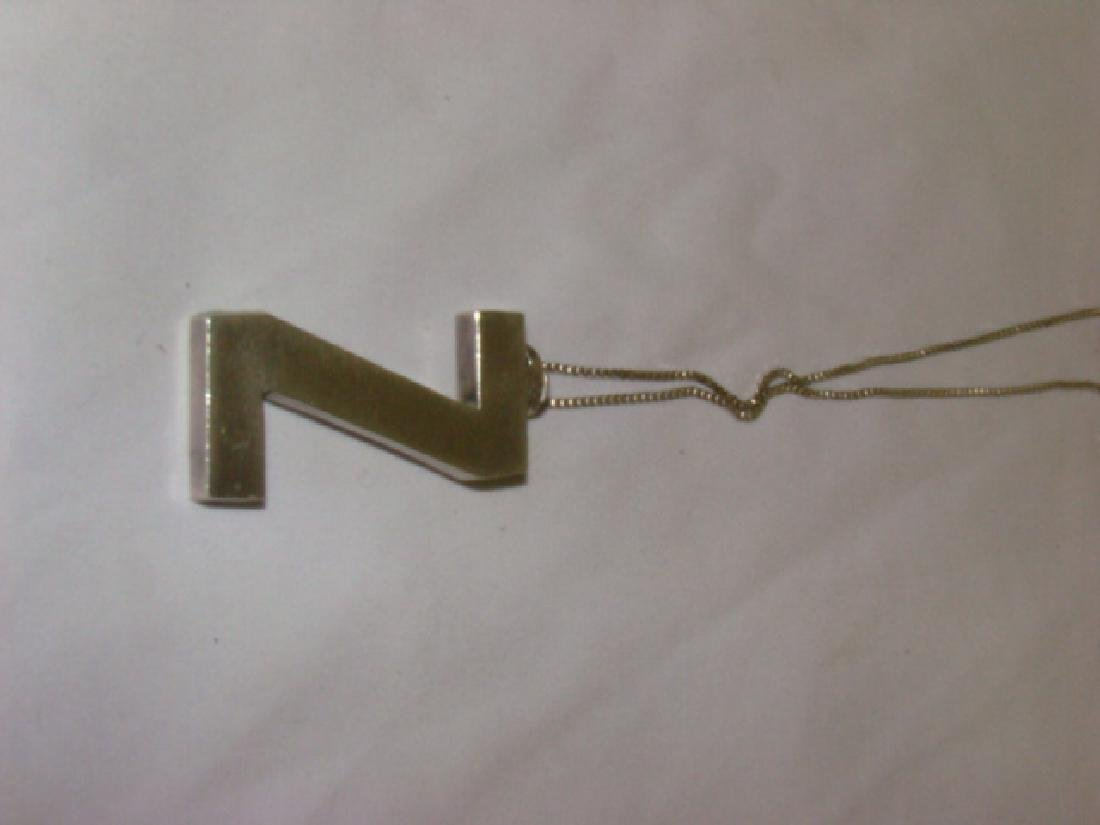 STERLING NECKLACE WITH Z PENDANT - 3